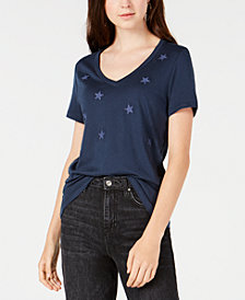 Carbon Copy Embroidered Stars T-Shirt