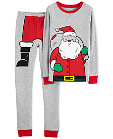 Carter's Little Boys 2-Pc. Santa Suit Cotton Pajamas
