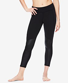 Gaiam Shiva Shine Mesh-Trimmed Ankle Leggings