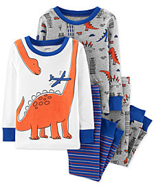 Carter's Toddler Boys 4-Pc. Dino-Print Cotton Pajamas
