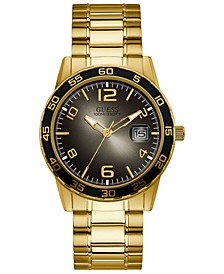 Men's Gold-Tone Stainless Steel Bracelet Watch 42mm