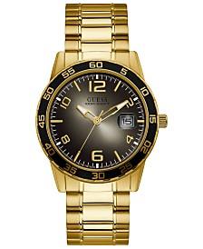 GUESS Men's Gold-Tone Stainless Steel Bracelet Watch 42mm