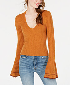 Free People May Morning Bell-Sleeve Pullover Sweater