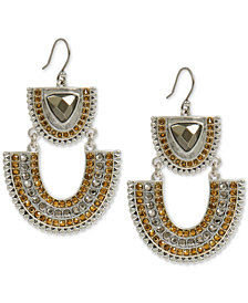 Lucky Brand Two-Tone Crystal & Stone Statement Earrings