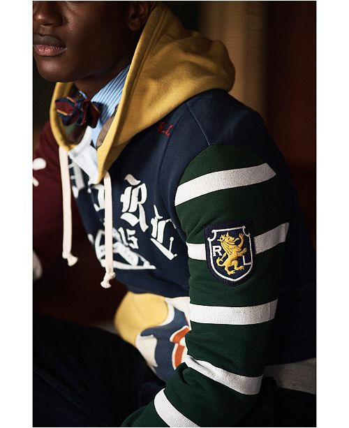 3cc4fbf52 Polo Ralph Lauren Men s Patchwork Rugby Hoodie   Reviews - Casual ...