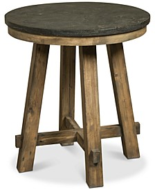Breslin Bluestone Round End Table