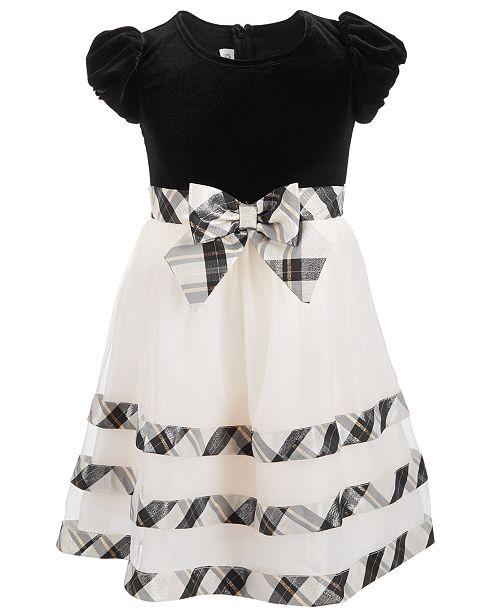 f00c74cf4b0f Bonnie Jean Toddler Girls Velvet Plaid Party Dress & Reviews ...