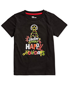 Epic Threads Little Boys Happy Holidays T-Shirt, Created for Macy's