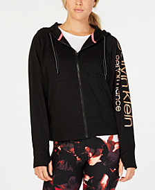 Calvin Klein Performance Logo Zip Hoodie