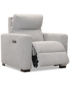 """Clynton 36"""" Fabric Dual Power Recliner with USB Power Outlet"""