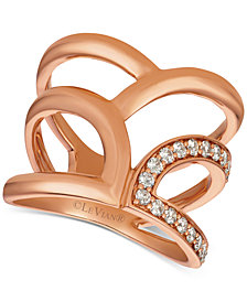 Le Vian® Nude Diamonds™ Statement Ring (1/3ct. t.w.) in 14k Rose Gold