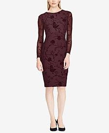 Lauren Ralph Lauren Floral-Mesh Dress