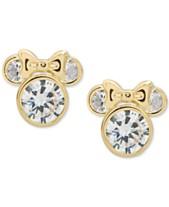 60958a6e9 Disney© Children's Cubic Zirconia Minnie Mouse Stud Earrings in 14k Gold