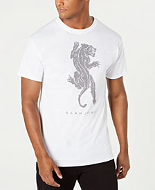 Sean John Men's Studded Panther T-Shirt