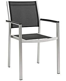 Shore Outdoor Patio Aluminum Dining Chair Black