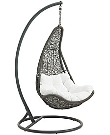 Abate Outdoor Patio Swing Chair With Stand White