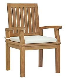 Marina Outdoor Patio Teak Dining Chair White