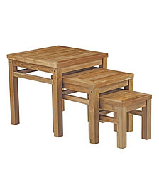 Modway Marina Outdoor Patio Teak Nesting Table