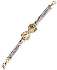Lucky Brand Two-Tone Pavé Link Bracelet