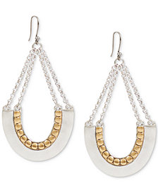 Lucky Brand Two-Tone Chain Drop Earrings