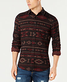 American Rag Men's Geometric Tapestry Shirt, Created for Macy's