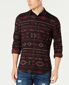 American Rag Men's Geometric Tapestry Shirt, Created for Macy's