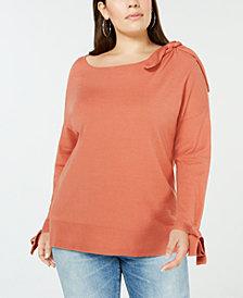 Love Scarlett Plus Size Tie-Detail Sweater