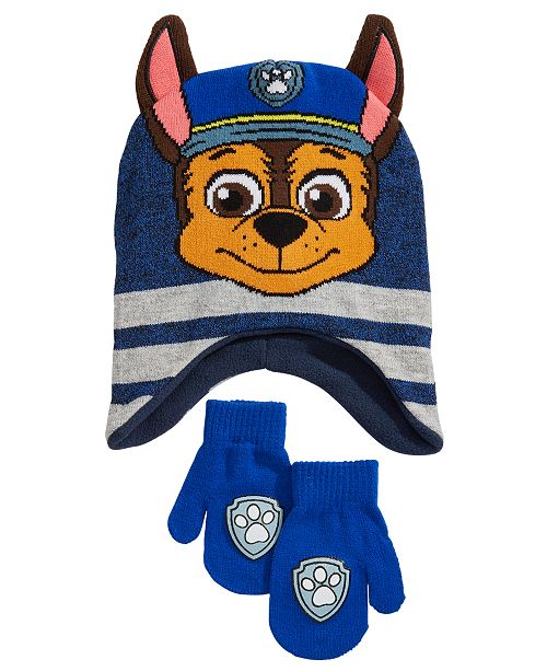 8be6ca98ad7bf PAW Patrol Toddler Boys 2-Pc. Chase Hat   Mittens Set   Reviews ...