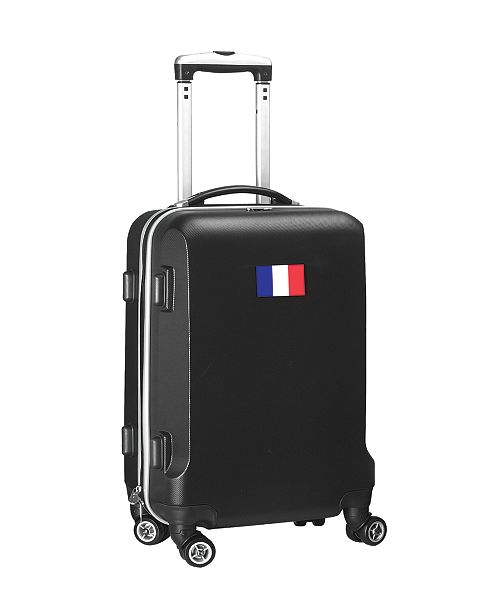 "Mojo Licensing 21"" Carry-On Hardcase Spinner Luggage - France Flag"