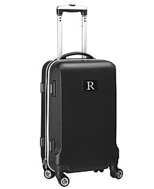 Luggage Carry-On 21-Inch Hardcase Spinner 100% Abs With Letter R