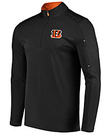VF Licensed Sports Group Men's Cincinnati Bengals Ultra Streak Half-Zip Pullover