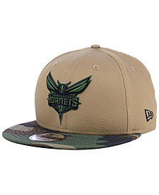New Era Charlotte Hornets Camo Tipping 9FIFTY Snapback Cap