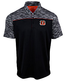 Authentic NFL Apparel Men's Cincinnati Bengals Final Play Polo