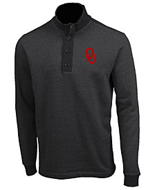 Antigua Men's Oklahoma Sooners Pivotal Quarter-Button Pullover