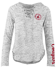 Pressbox Women's Washington State Cougars Spacedye Lace Up Long Sleeve T-Shirt
