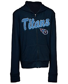 5th & Ocean Tennessee Titans Sweater Full-Zip Hoodie, Girls (4-16)