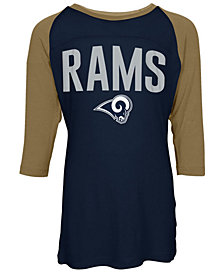 5th & Ocean Los Angeles Rams Raglan T-Shirt, Girls (4-16)