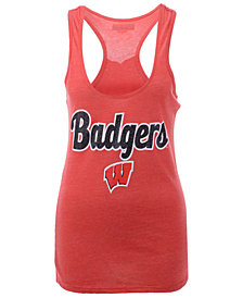 5th & Ocean Women's Wisconsin Badgers Script Logo Tank