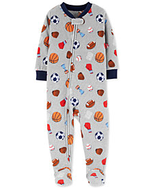 Carter's Toddler Boys Sports-Print Footed Pajamas