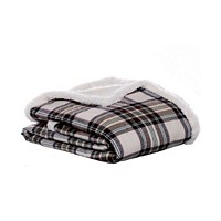 Deals on 2 Eddie Bauer Flannel Sherpa Throw