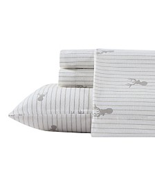 Eddie Bauer Novelty Print Twin Flannel Sheet Set