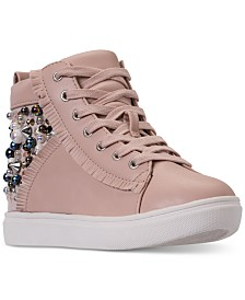 Steve Madden Little Girls' JHybrid Embellished High Top Casual Sneakers from Finish Line