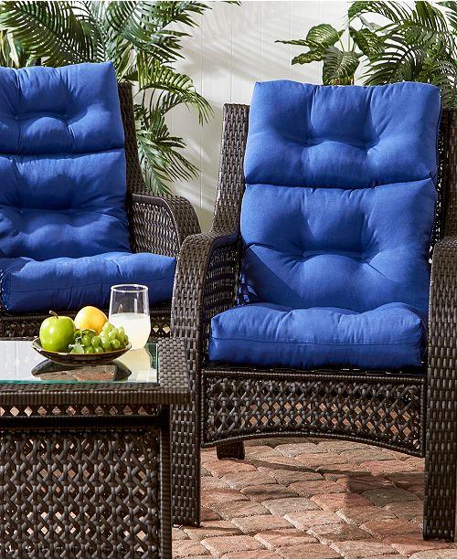 Greendale Home Fashions Set of 2 Outdoor High Back Chair Cushions