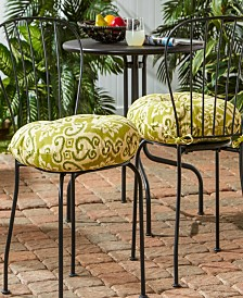 Set of 2 Round Outdoor Bistro Chair Cushion