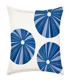Sea Urchin Repeat Cotton Canvas Pillow