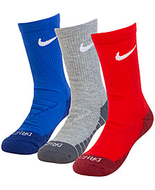 Nike Little Boys 3-Pk. Cushioned Dri-FIT Crew Socks