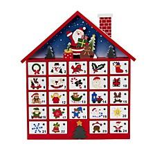 16 Inch Wooden Advent Calendar