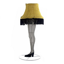 Kurt Adler 28 Inch Leg Lamp 3D Tinsel Lighted Lawn decor