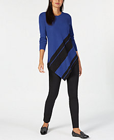 Alfani Colorblocked Sweater & Tummy-Control Skinny Pants, Created for Macy's