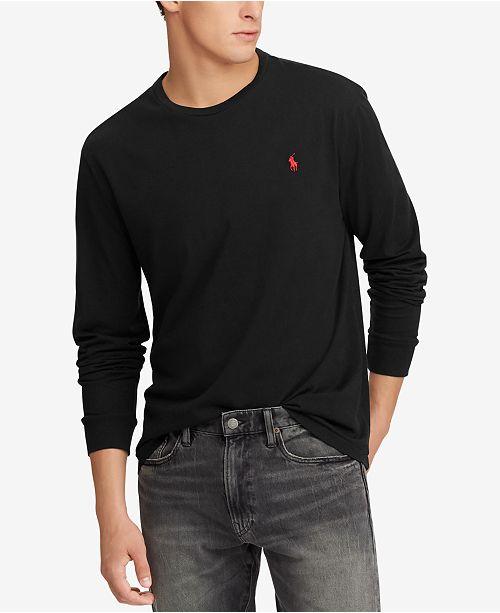 d4fd8429529688 Polo Ralph Lauren Men's Classic-Fit Long-Sleeve T-Shirt & Reviews ...